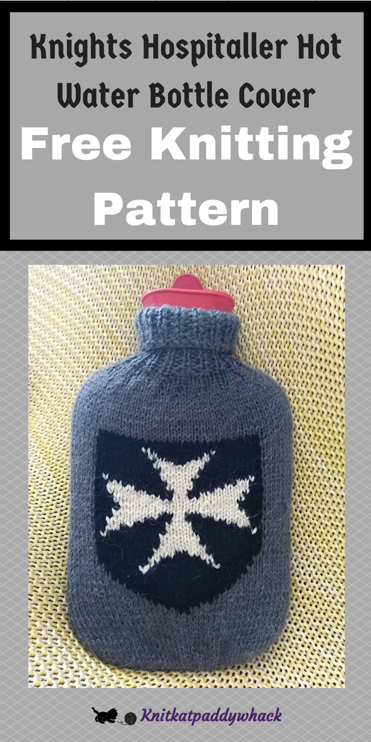 Image of Knights Hospitaller Hot Water Bottle Cover with text