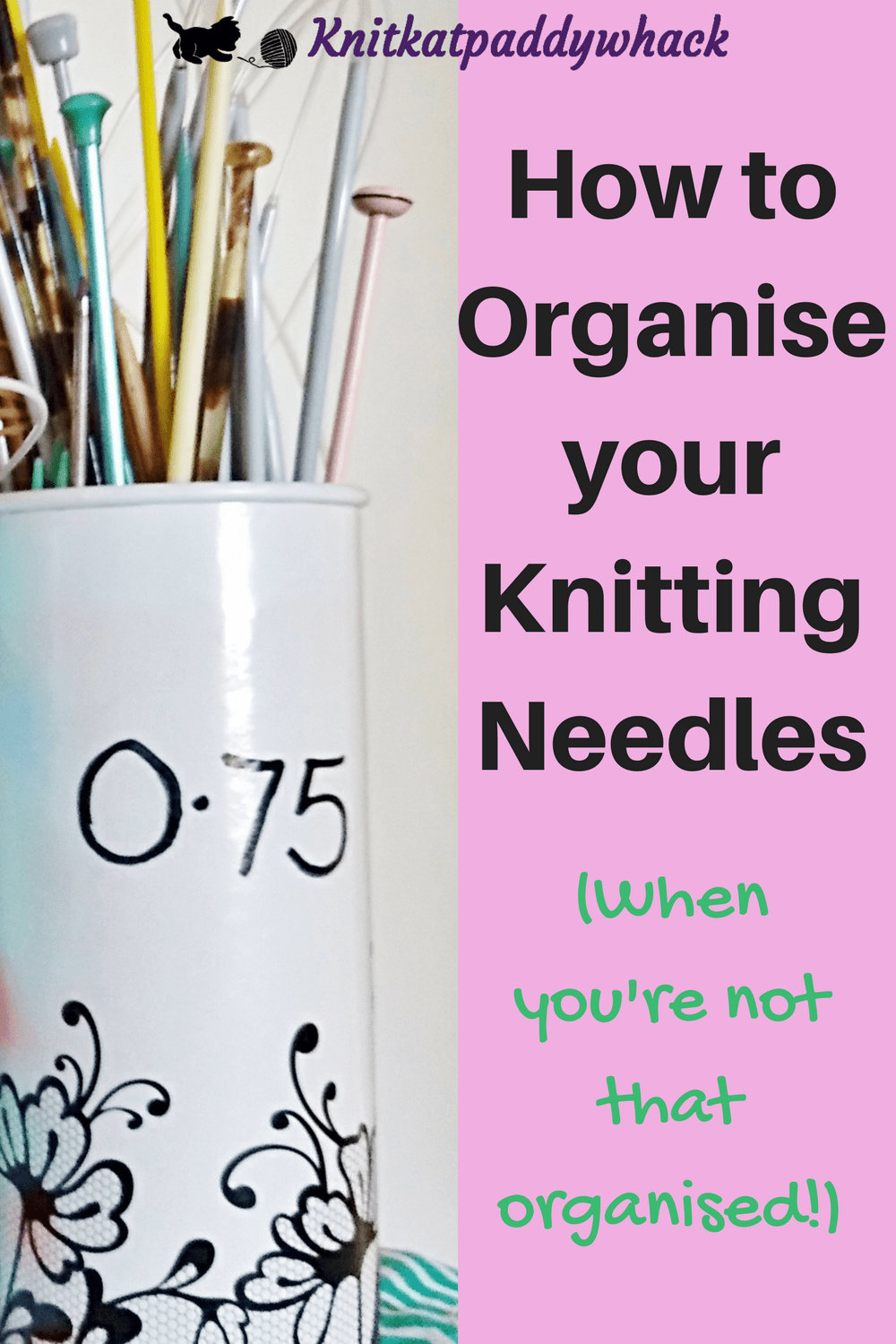 Captioned image How to Organise Knitting Needles