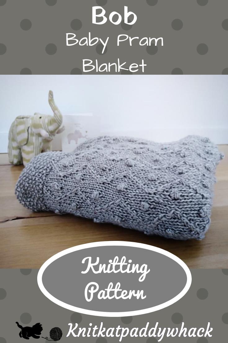 Image of Bob baby pram blanket knitting pattern photo